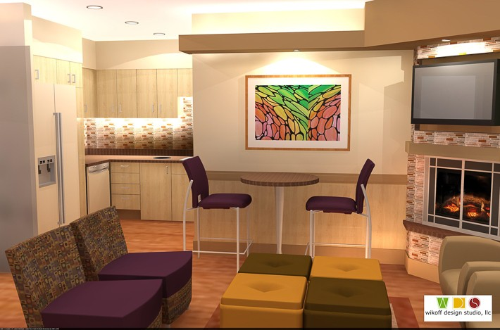 Ronald mcdonald house family room wikoff design studio for Ronald mcdonald family room