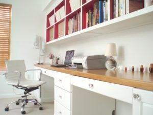 Back Office Makeover Idea   Long Plank Desk