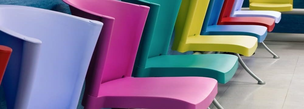 Pediatric Waiting Rooms – Ease Tension with Colorful, Kid-Sized Chairs and Furniture That Can Be Easily Cleaned