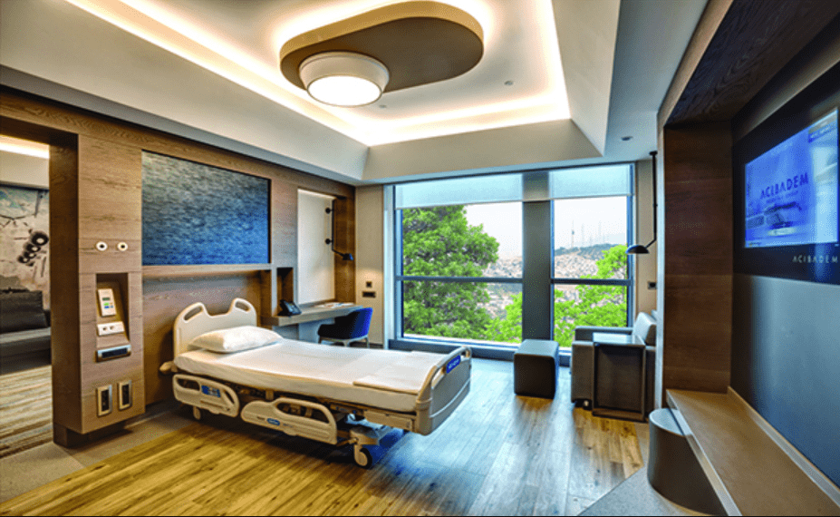 Picture of a patient room at Acibadem Healthcare Group