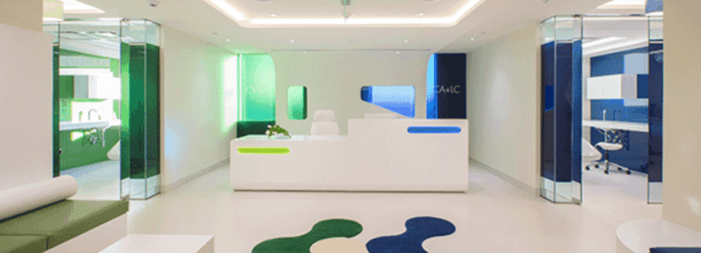 Strategic Use of Color and Layout Merge Two Clinics