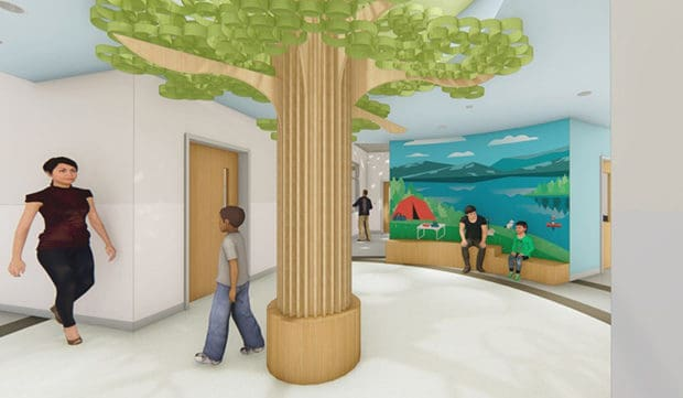 Biophilic Design Principles Provide Warmth and Familiarity to Maine Behavioral Healthcare Center of Autism and Developmental Disorders