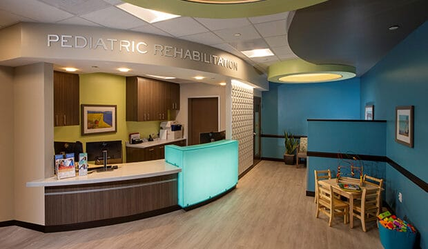 Materials and Finishes Invite Young Patients to Relax and Play