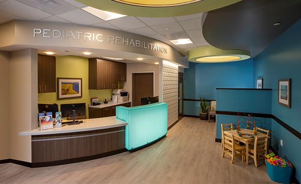 featured image showing the lobby at the Pediatric Rehabilitation at Boulder Community Health