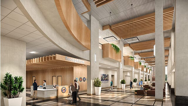 Warm and Inviting Veterans Affairs Outpatient Clinic